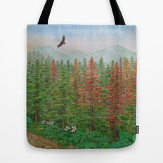 A Day of Forest(8). (coniferous forest) Tote Bag