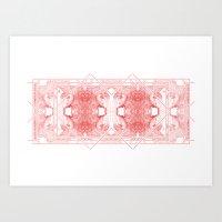 The Willow Pattern (Rose variation) Art Print