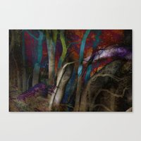 Funky Woods - JUSTART © Canvas Print