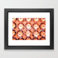 Diamonds // Orange Framed Art Print