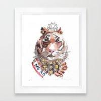Pageant Tiger Framed Art Print