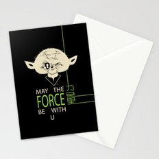 Starwars Yoda - May The Force Be With U Stationery Cards