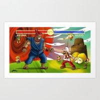 Mario VS. Akuma Art Print