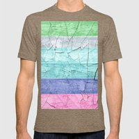 BEACH WOOD Mens Fitted Tee Tri-Coffee SMALL