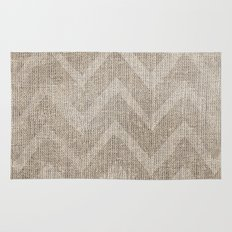 Chevron burlap (Hessian series 1 of 3) Rug