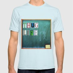 Thug Life Mens Fitted Tee Light Blue SMALL