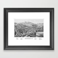 Ticonderoga, NY 1891 By … Framed Art Print