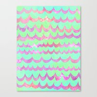 WAVES - Pastel Canvas Print