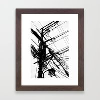 Telephone Poll 2 Framed Art Print