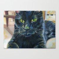 Totoro the cat Canvas Print