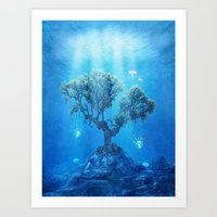 Underwater Tree Art Print