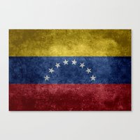 The national flag of the Bolivarian Republic of Venezuela -  Vintage version Canvas Print