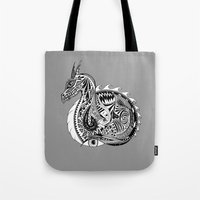 Nesting Dragon Tote Bag