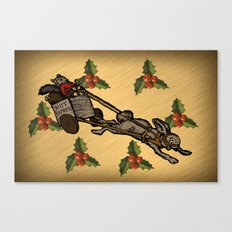 Christmas on the Nut Express Canvas Print