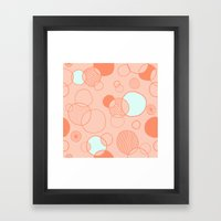 Coral Bubbles (with A Hi… Framed Art Print
