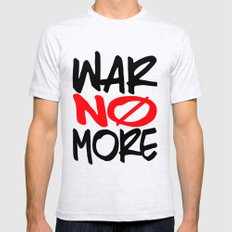 WAR NO MORE Mens Fitted Tee Ash Grey SMALL
