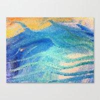 Beach Mosaic Canvas Print