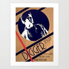 Digger crumble poster Art Print