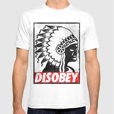 Indian Disobey Mens Fitted Tee White SMALL