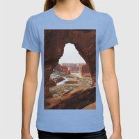 Window Rock Womens Fitted Tee Tri-Blue SMALL