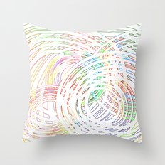 Tracing lazy circles in the sky Throw Pillow