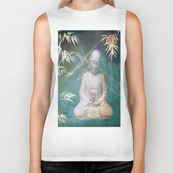 Buddha's awakening from deep meditation Biker Tank