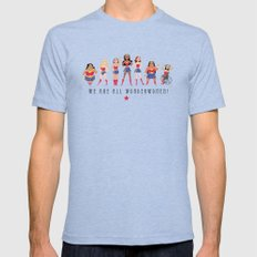 We Are All Wonderwomen! Mens Fitted Tee Tri-Blue SMALL
