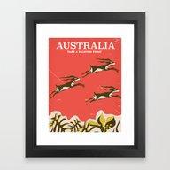 Australia Vintage Travel… Framed Art Print
