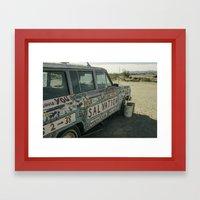 Salvation Mountain Truck  Framed Art Print