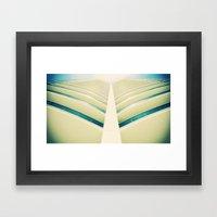 Building Window Parted L… Framed Art Print