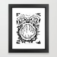 Anger Framed Art Print