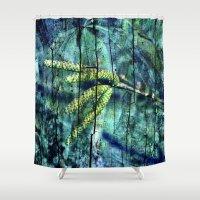 ARCHAIC BLUE DREAM Shower Curtain