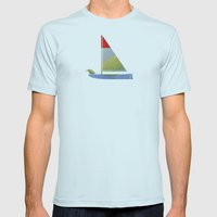 overture Mens Fitted Tee Light Blue SMALL
