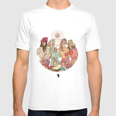Sweet Temptation White SMALL Mens Fitted Tee