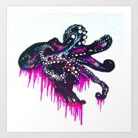 Octopie Art Print