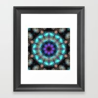 Textured Turquoise Abstr… Framed Art Print
