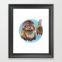 Sloth Pride Framed Art Print