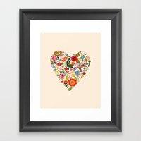 You Make My Heart Grow Framed Art Print