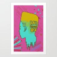 Melt Head Art Print