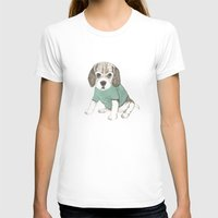puppy Womens Fitted Tee White SMALL