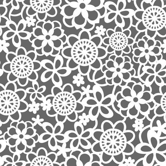 Filigree Floral Lace Art Print