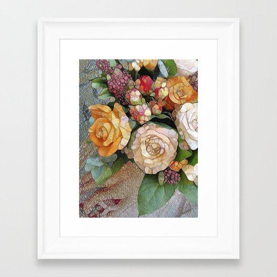 Vintage Roses Framed Art Print