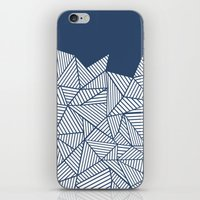 Abstract Mountain Navy iPhone & iPod Skin