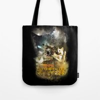 Clash of the Kittens  Tote Bag