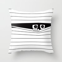 Watching. Throw Pillow