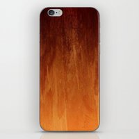 Orange Fire Watercolor Abstract iPhone & iPod Skin