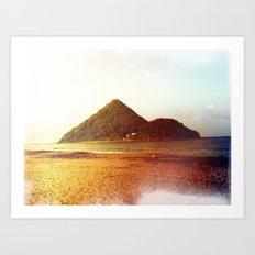 Rainbow Island Art Print
