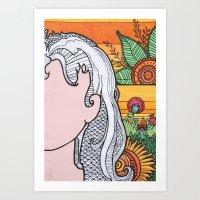 Disco Sunrise Art Print