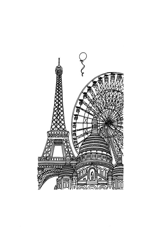 Paris Silhouettes Art Print