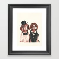 German Short Hair Pointe… Framed Art Print